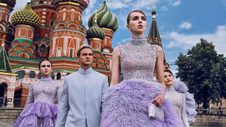 La colección del diseñador Michael Cinco en Moscú