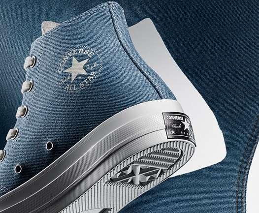 Renew Denim, las zapatillas de Converse fabricadas con jeans reciclados
