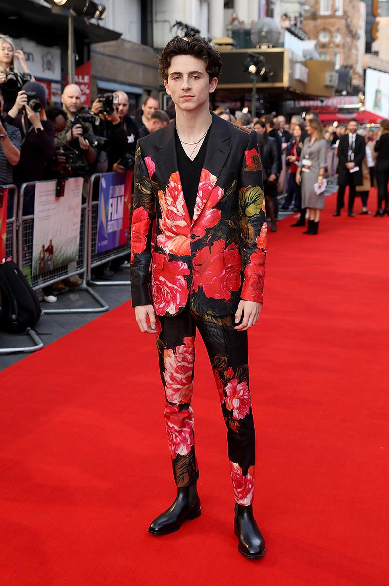 Los mejores looks de Timothée Chalamet en la alfombra roja