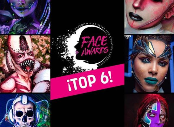 Los seis finalista de la tercer edición de los NYX Face Awards Chile