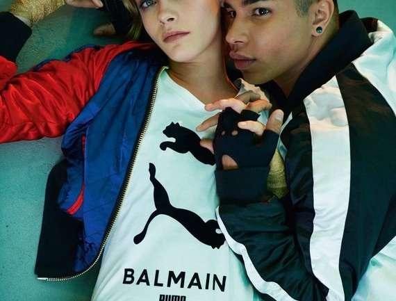 Puma x Balmain con Cara Delevingne