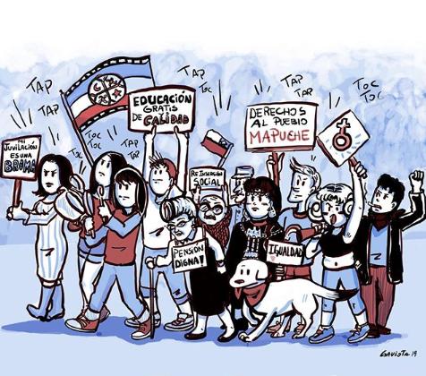 """Entrevista a la ilustradora chilena Gabriela 'Gaviota' Cercós: """"Los artistas somos los encargados de registrar la historia, de empapelar las calles con el mensaje del pueblo"""""""