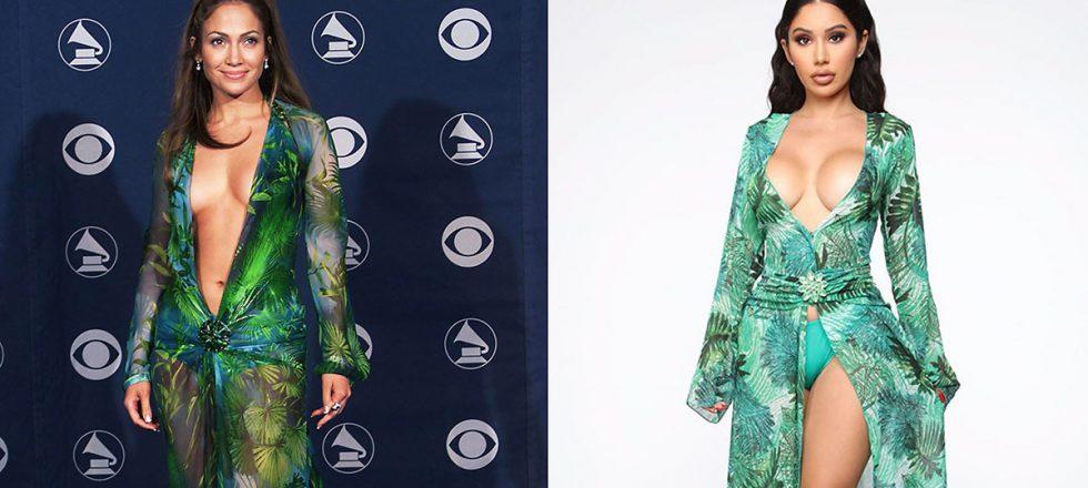 Versace demanda a Fashion Nova por plagiar el icónico vestido de J.Lo