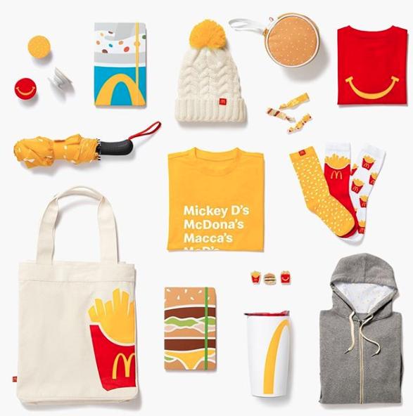 McDonald's lanza su primera colección inspirada en la comida rápida