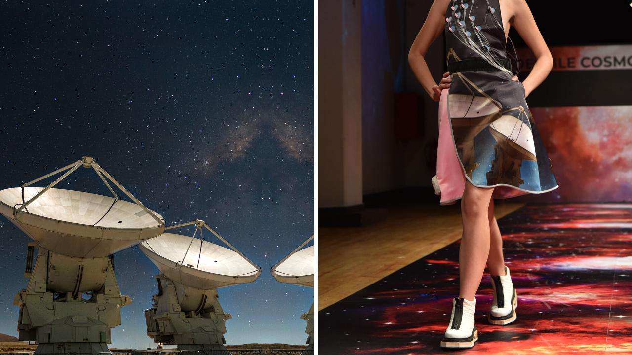 Las imágenes del Observatorio Alma plasmadas en las 7 colecciones del Desfile Cosmos de Epson