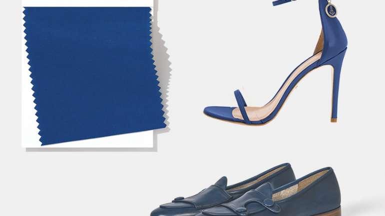¿Cómo llevar el classic blue en los zapatos?