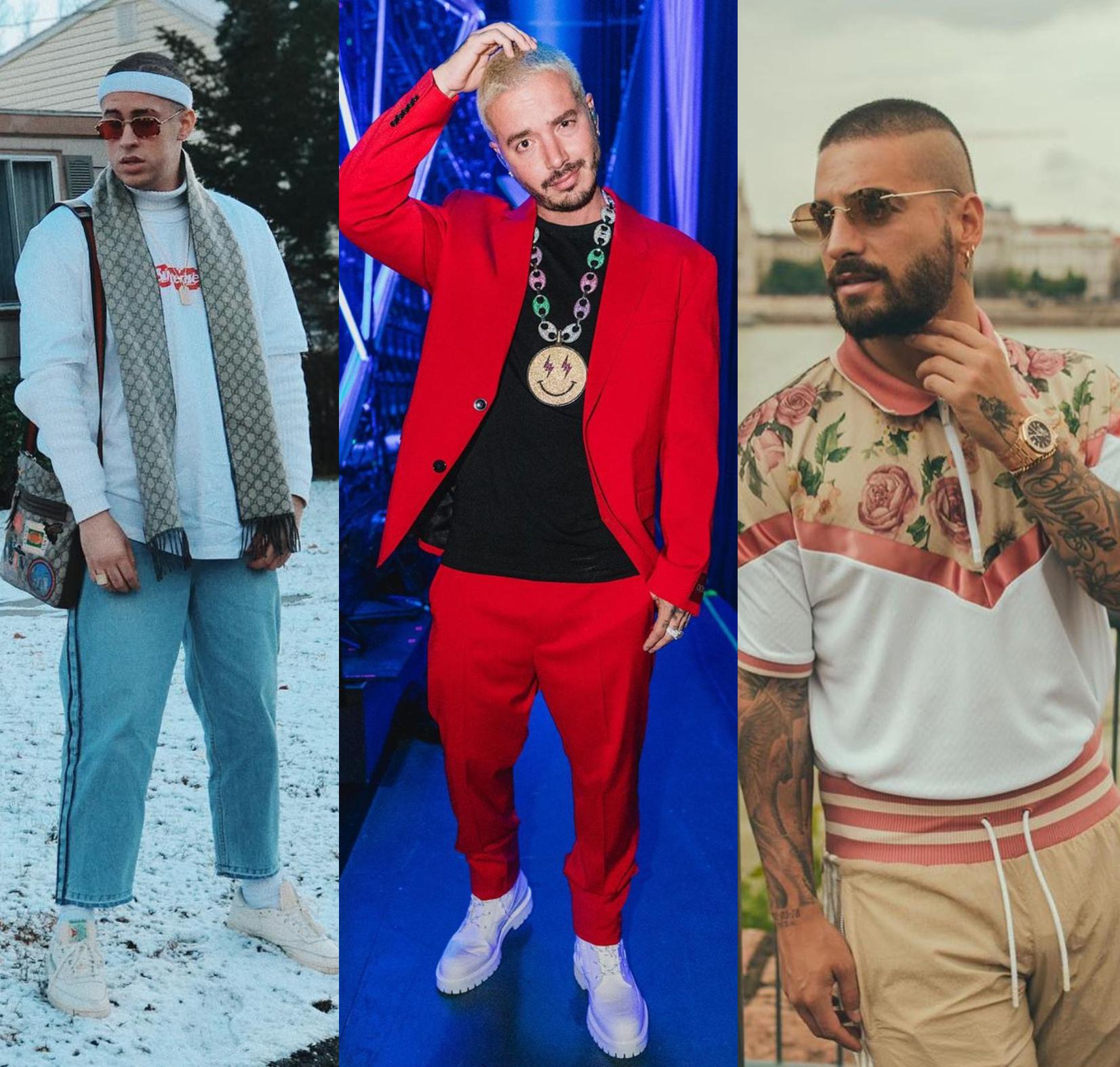 Reggaetón y moda: Los estilismos de J Balvin, Bad Bunny y Maluma bajo la mirada de Duran