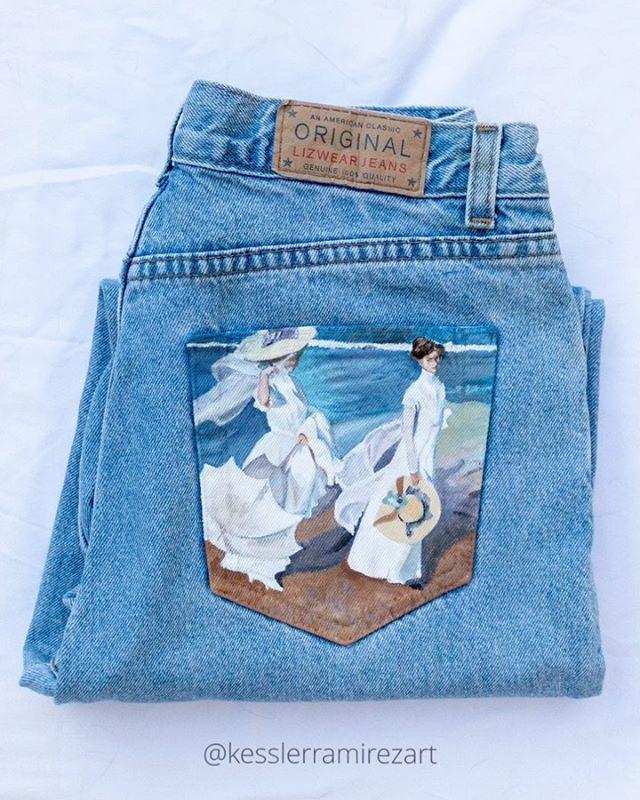 @kesslerramirezart y sus jeans llenos de arte