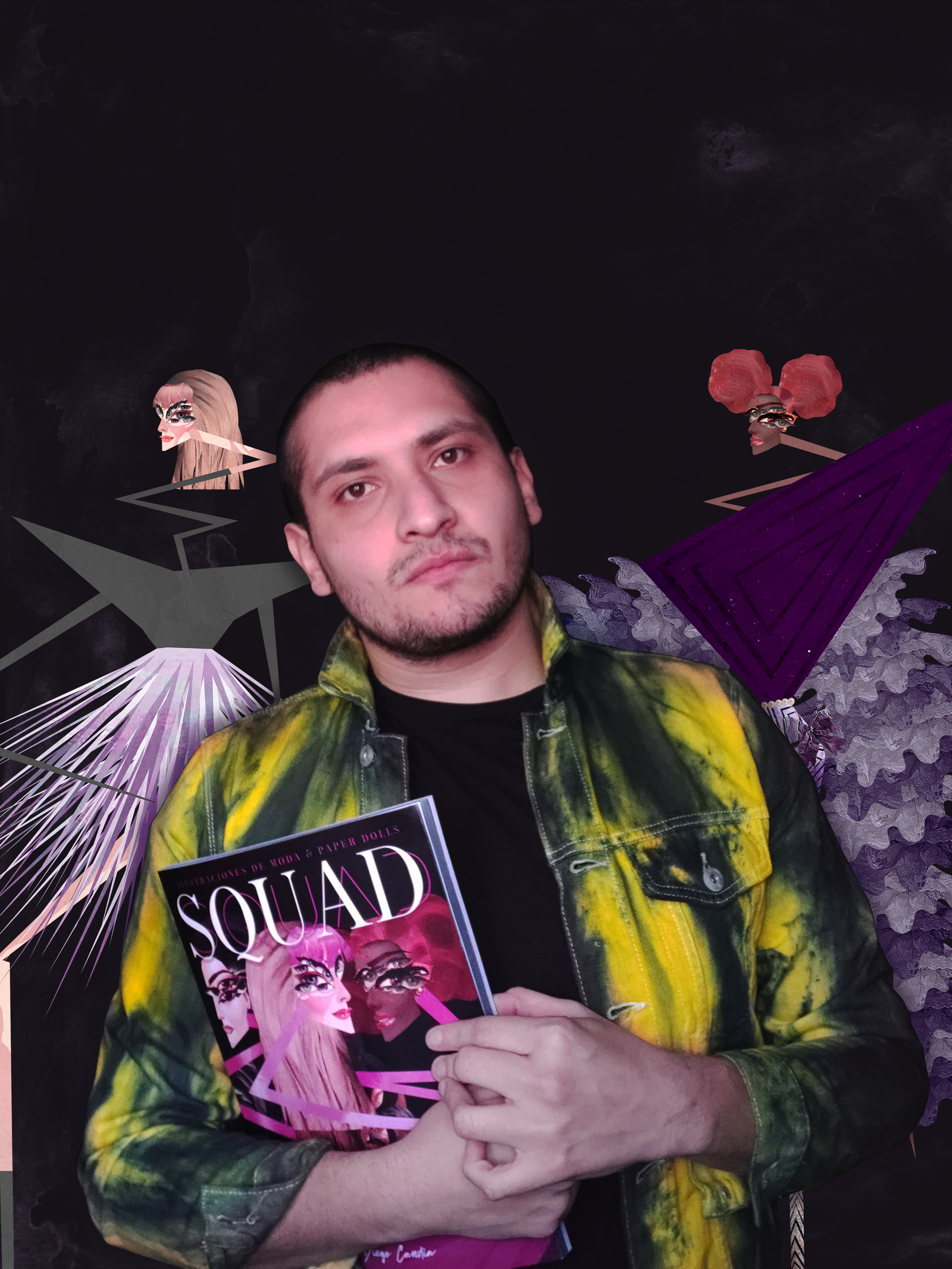S Q U A D, el primer libro del ilustrador chileno de moda Diego Candia