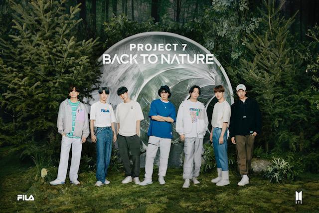 Project 7: Back to Nature, una colaboración entre BTS y Fila